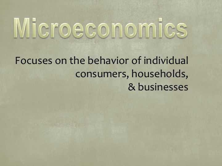 Microeconomics After 1