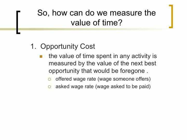 Opportunity Cost Before