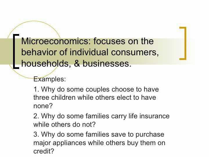Microeconomics Before