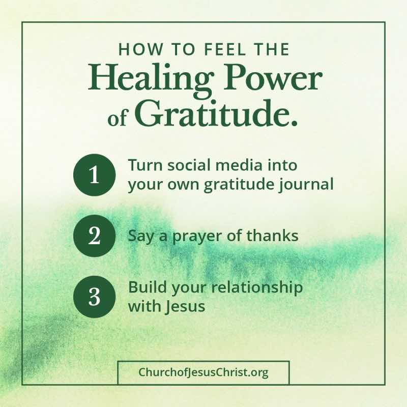 How to feel the healing power of gratitude