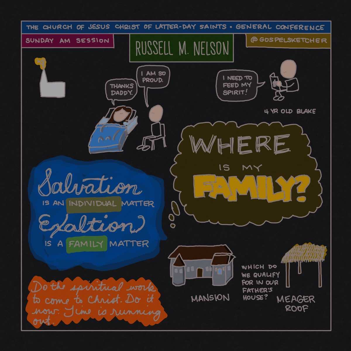 Russell M. Nelson sketchnotes