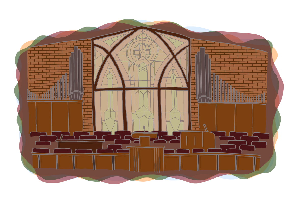 Chapel with organ and window
