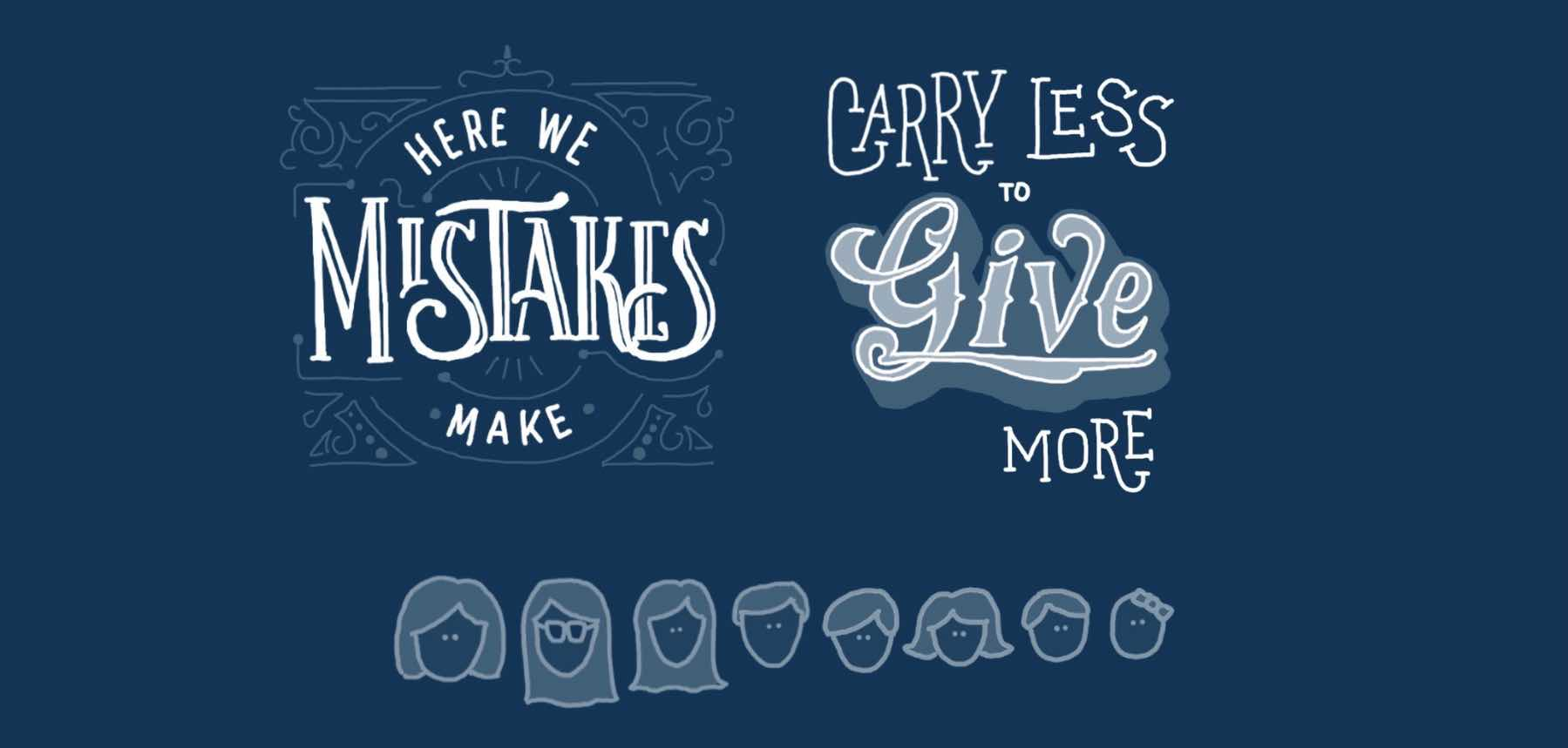 Carry less to give more goal