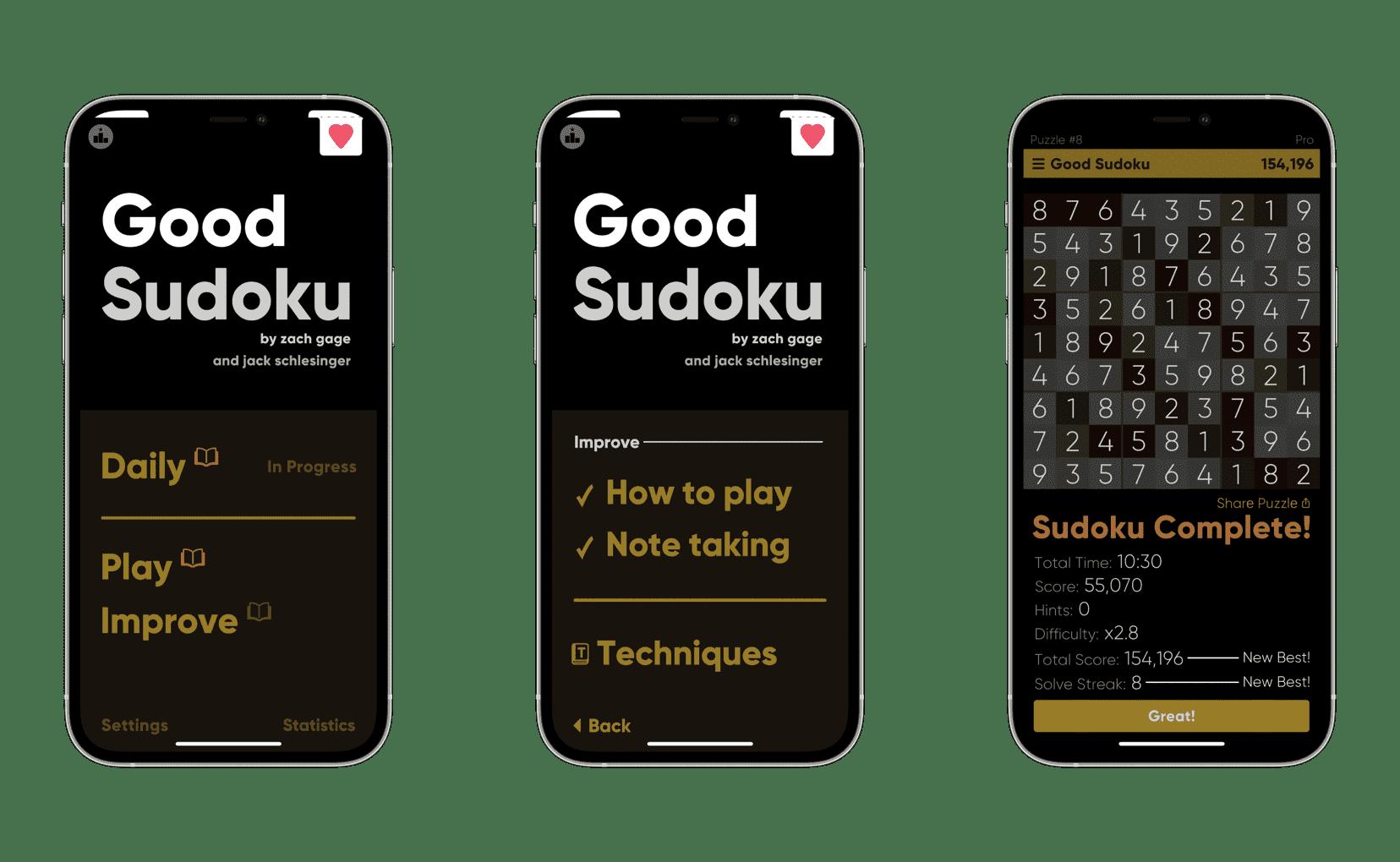 Good Sudoku app