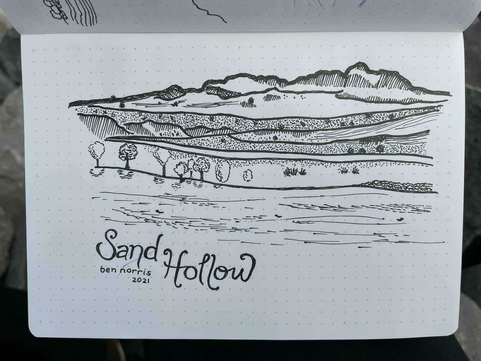 Sand Hollow Sketch