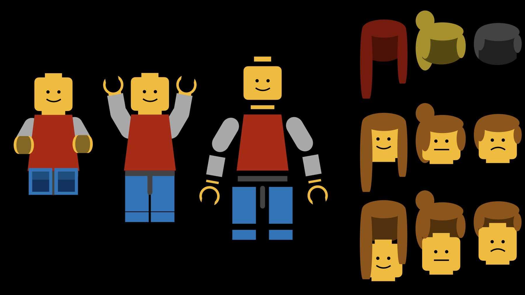 Image of broken apart character