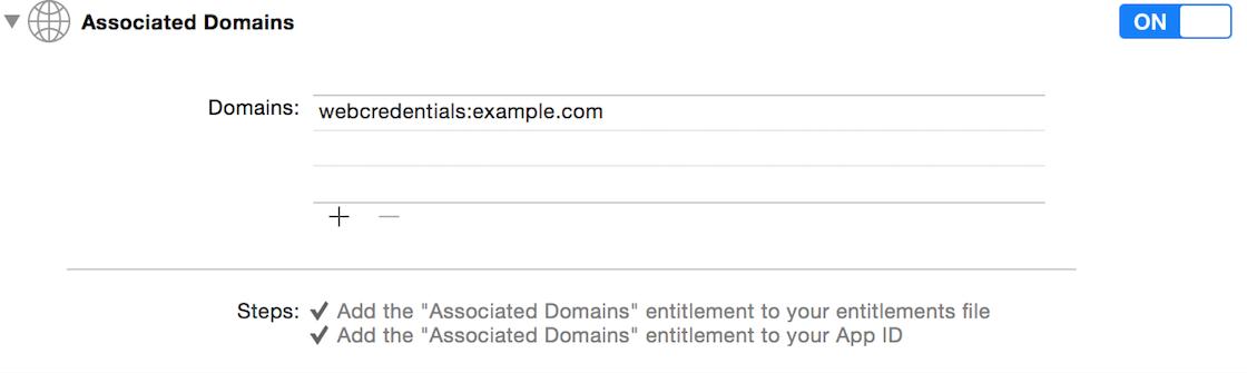 Associated Domains entitlement