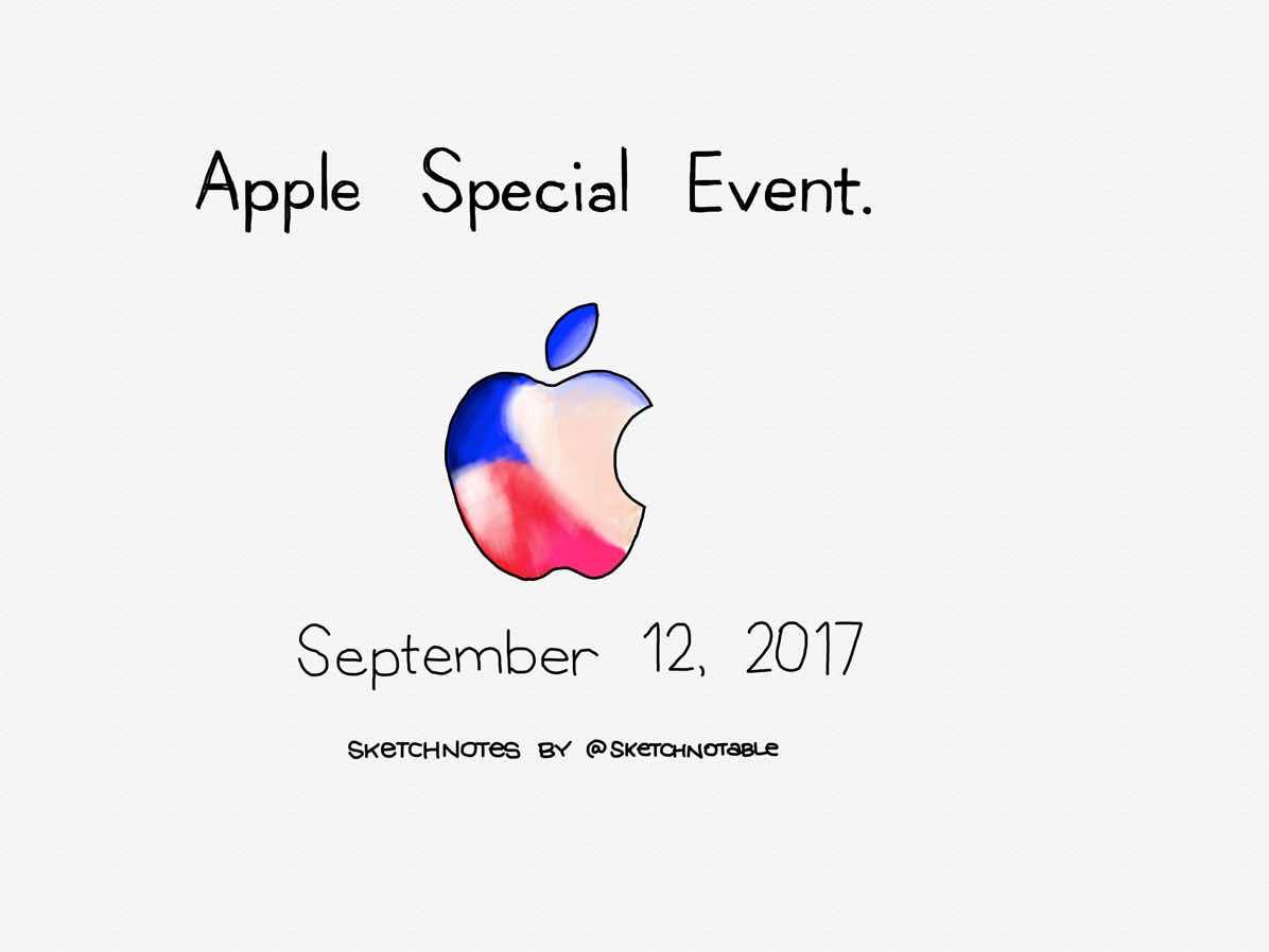 Apple event sketchnotes